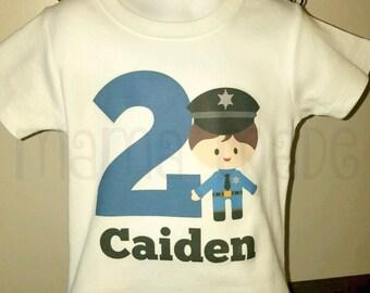 Boys birthday shirt, sheriff birthday shirt, policeman birthday shirt,police birthday shirt,cop birthday shirt,cop birthday,policemen party