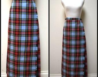 Vintage JL Hudson Co/Gaiety Kilt Irish Plaid Formal Length Skirt Kilt Size XS