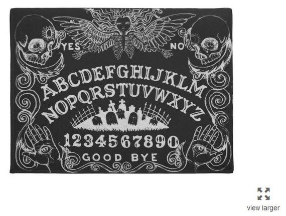 Ouija Board Area Rug Black