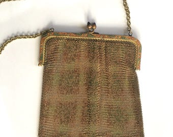 Beautiful Vintage 1920s  Art Deco Mesh Purse