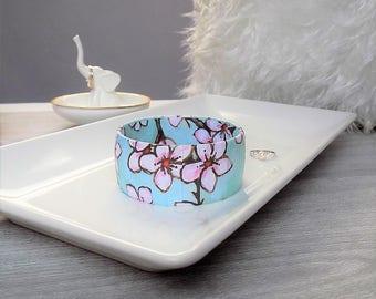 Cherry Blossom Bracelet - Plus Size Bangle - Cherry Blossom Bangle - Cherry Blossom Jewelry - Springtime Bracelet - Plus Size Bracelet