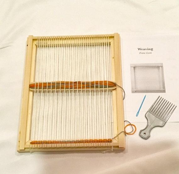 Basket Weaving Kits For Beginners : Weaving frame loom kit handcrafted beginners