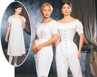 SZ 6/8/10/12 - Simplicity Historical Costume Pattern 9769 by MARTHA McCAIN - Misses' Chemise, Corset and Drawers - The Fashion Historian