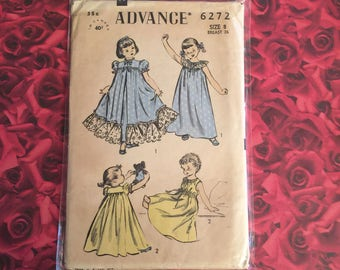 50'svVintage Girls Advance Sewing Pattern