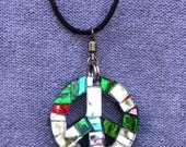 Reserve Listing:  Peace Sign Sparkle Sun Catcher Necklace for SW