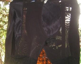Wow Hot Vintage XL 1950s 1960s black  Girdle panties Long leg  BombShell Baby