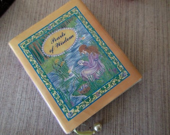 Pearls of Wisdom - tiny book, sayings, love. pearl charm