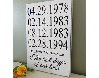 Important Custom Date Sign  engagement date  Anniversary Date, Birth Date Sign Dates Sign Special Dates Sign
