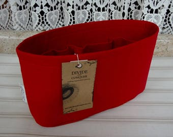 Red / Purse ORGANIZER insert SHAPER / Flexible bottom or Stiff bottom /STURDY/5 Sizes Available /Check out my shop for other colors & styles