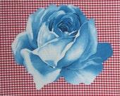 Rose applique- Iron on applique- DIY- no sew iron on-  applique- rose iron on- do it yourself- fabric iron on- iron on transfer