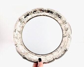 Plateau miroir rond etsy for Gros miroir rond