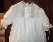 Special Order for Lydia heirloom dress and slip white/ecru Easter Pageant Portrait Wedding flower girl