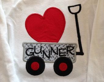 Valentine Shirt,Wagon with heart
