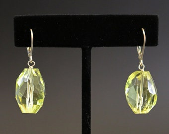 Lemon Quartz and Sterling Silver Drop Earrings
