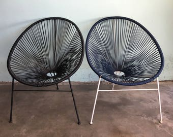 MID CENTURY MODERN Pair of Acapulco Style Chairs  (Los Angeles)
