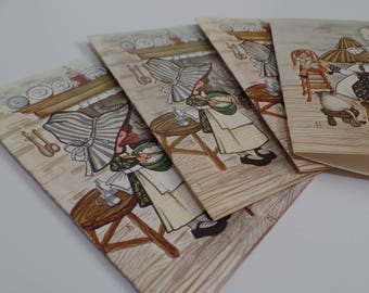 Holly Hobbie Vintage 70s Cooking Note Cards Set of 4