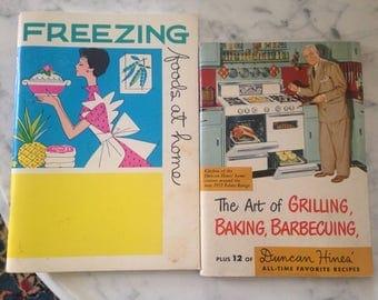 Midcentury  Cookbooks Duncan Hines Graphics Retro