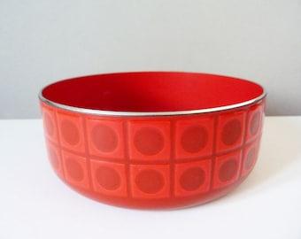1970's enamel Op art  patterned bowl