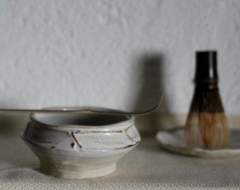 Stoneware tea bowl, chawan, matcha bowl