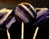 Dark Moon Lollipops - Winter Introspection tastes like Blackberry Lavender Earl Grey