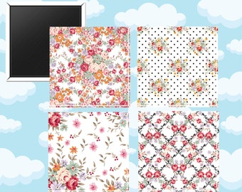 Prairie Flowers Magnets - Set of Four 2-Inch Magnets