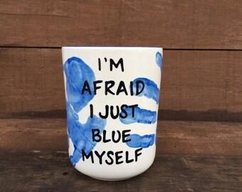 Arrested Development Ceramic Utensil Holder / Crock - Medium - I'm Afraid I Just Blue Myself