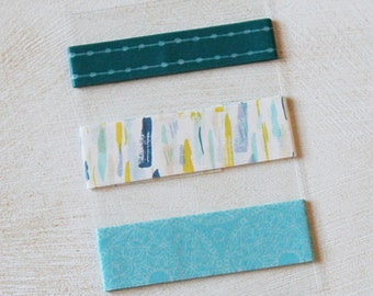 Paint Strokes - Blues - Washi Tape SAMPLE - 24 inches