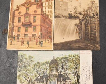 Large Lot /// Vintage postcards, FREE SHIPPING 26 cards, early 1900's, card-making  scrap-booking, 2 MISC A