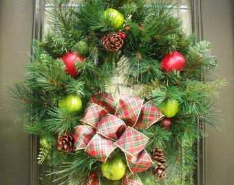 Williamsburg Style Wreath, Fruit Wreath, Christmas Wreath, Christmas Williamsburg, Holiday Wreath