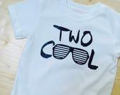 TWO Cool Birthday Tee Shirt Sunglasses SHADES