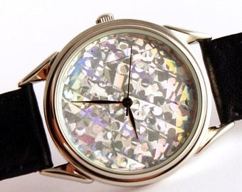 ON SALE 30% OFF Watch hologram, quartz watch, mens watches, womens watches ladies watches blue hologram watch,