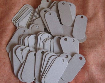 50 Long Tags, Long Cardboard Tags, Eco Friendly Tags, Cardboard Tags, Price Tags, Craft Tags, Jewelry Tags, Long Small Tags, Product Tags