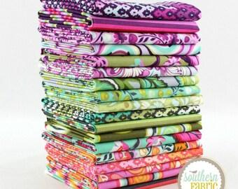 "Chipper - Fat Quarter  Bundle - 18 - 18""x21"" Cuts - Tula Pink - Free Spirit Quilt Fabric"