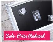 "WEDDING CHALK BOARDS For Sale 44""x32"" Xl Large Wedding Menu Board Framed Chalkboard Large Rustic Distressed Framed White Magnetic Baroque"