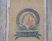 Vintage flour sack for flour sack pillows, burlap wall art or burlap upholstery projects
