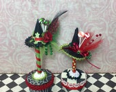 Dollhouse miniature candy witch hat set