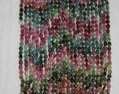 Tourmaline, Tourmaline Pebble, Multicolor Pebble, Smooth Pebble, Gemstone Bead, Semi Precious, Oval Bead, Full Strand, 5-6 mm, AdrianasBeads