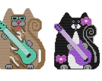 Plastic Canvas Kool Kats Wall Hangings Instant Download