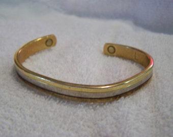 24K gold Electroplated Large Cuff Bracelet