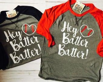 Hey Batter Batter! Baseball Raglen