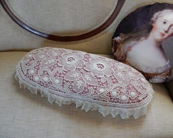 Shabby Chic Vintage Lace Boudoir Pillow/Neck Roll