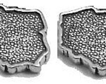 Poland Cufflinks in solid sterling silver Free Domestic Shipping