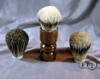 American Walnut Shaving Brush Choose your Badger Hair Brush Father's Day Gift Birthday Wet Shaving Ready2Ship