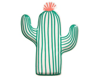 Cactus Paper Plate high gloss and sturdy set of 12