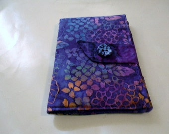 Purple Hydrangea Batik Kindle Fire/Keyboard Cover