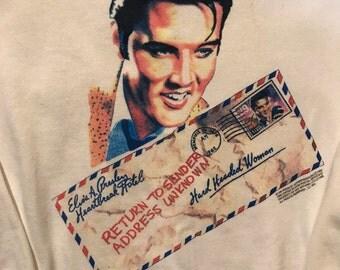 Vintage 90s Elvis Presely white crewneck sweatshirt Large 1992