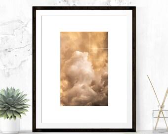 Fibonacci Art Print, Sunset Art Print, Wall Art, Home Decor, Sunset Photo, Sunset Photography, Geometric Art, Digital Print, Printable Art