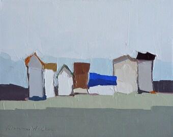 Little Village II- Oil Painting, 8x10, On Canvas, Original Landscape Painting