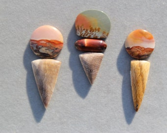 U-Pick Owyhee Jasper and Hell's Canyon Cabochon Sets from EvyDaywear, jewelry making, top shelf, rare natural stone cabochons