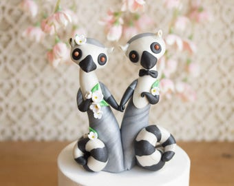 Lemur Wedding Cake Topper - Ring-tailed Lemur by Bonjour Poupette